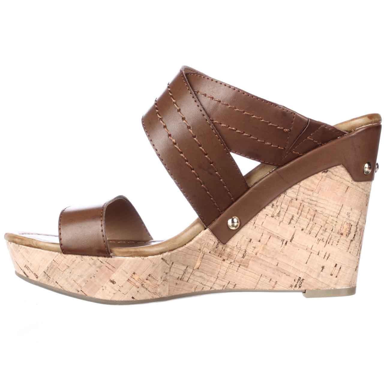tommy hilfiger mili2 slide wedge platform sandals in brown lyst. Black Bedroom Furniture Sets. Home Design Ideas