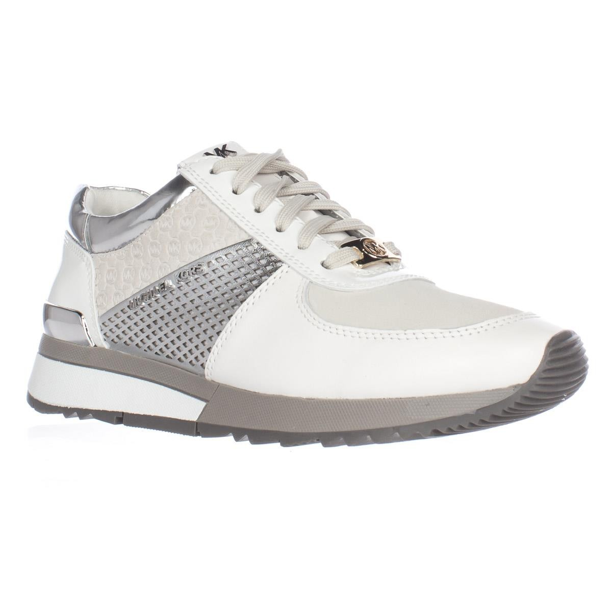 Michael Kors Leather Michael Allie Trainer Sneakers in