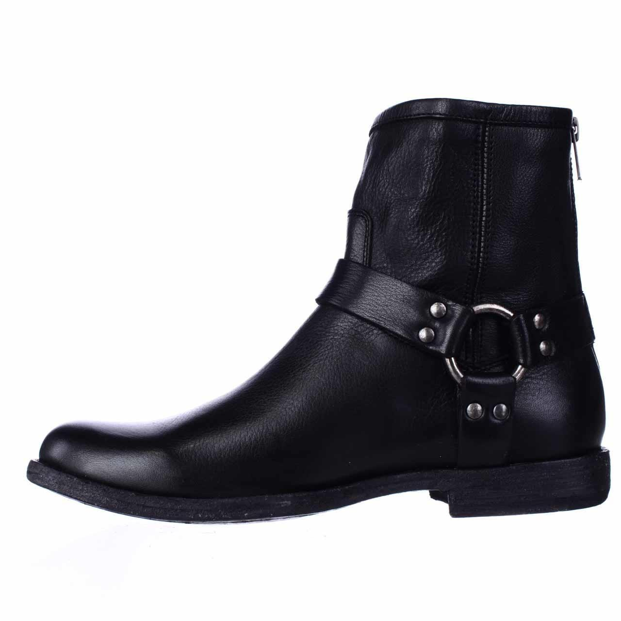 frye phillip harness ankle boots black in black lyst