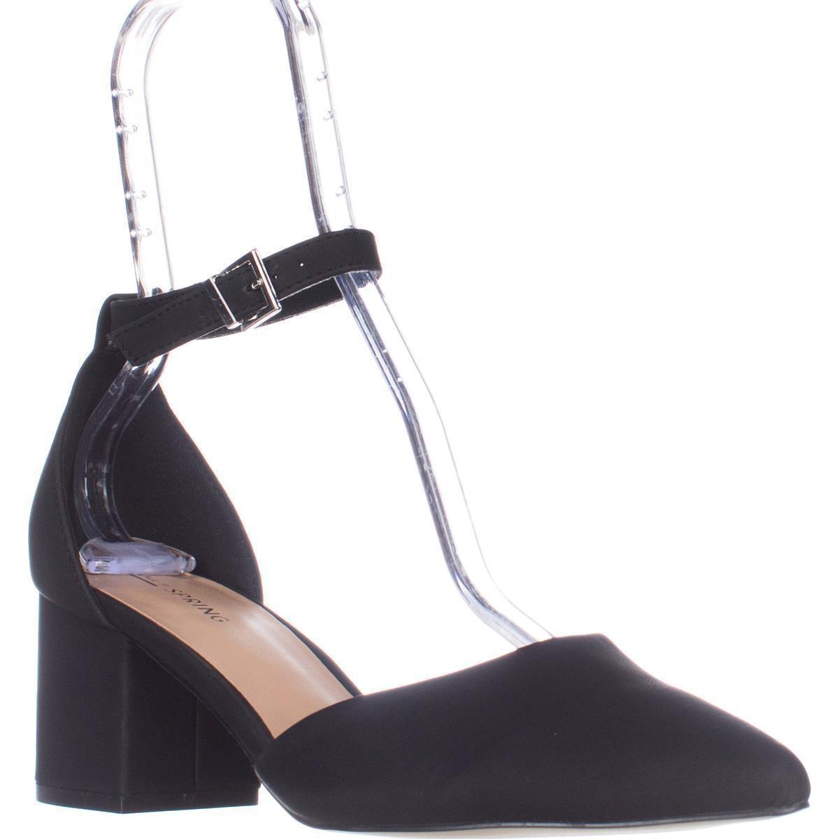 6f87ec8ac9a Call It Spring Trivio Ankle Strap Block Heel Sandals in Black - Lyst