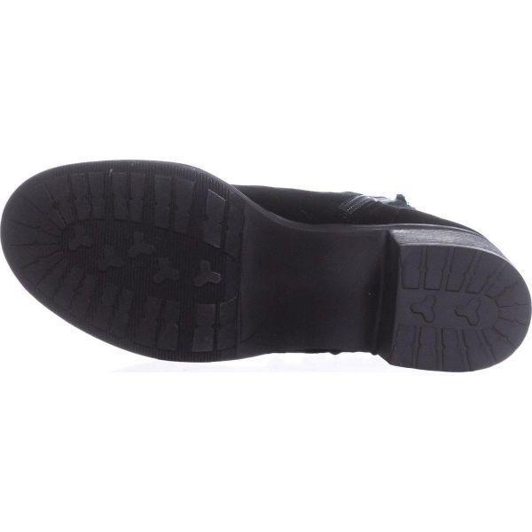 8b2279f1be7 Women's Black Veera Velvet Combat Boot