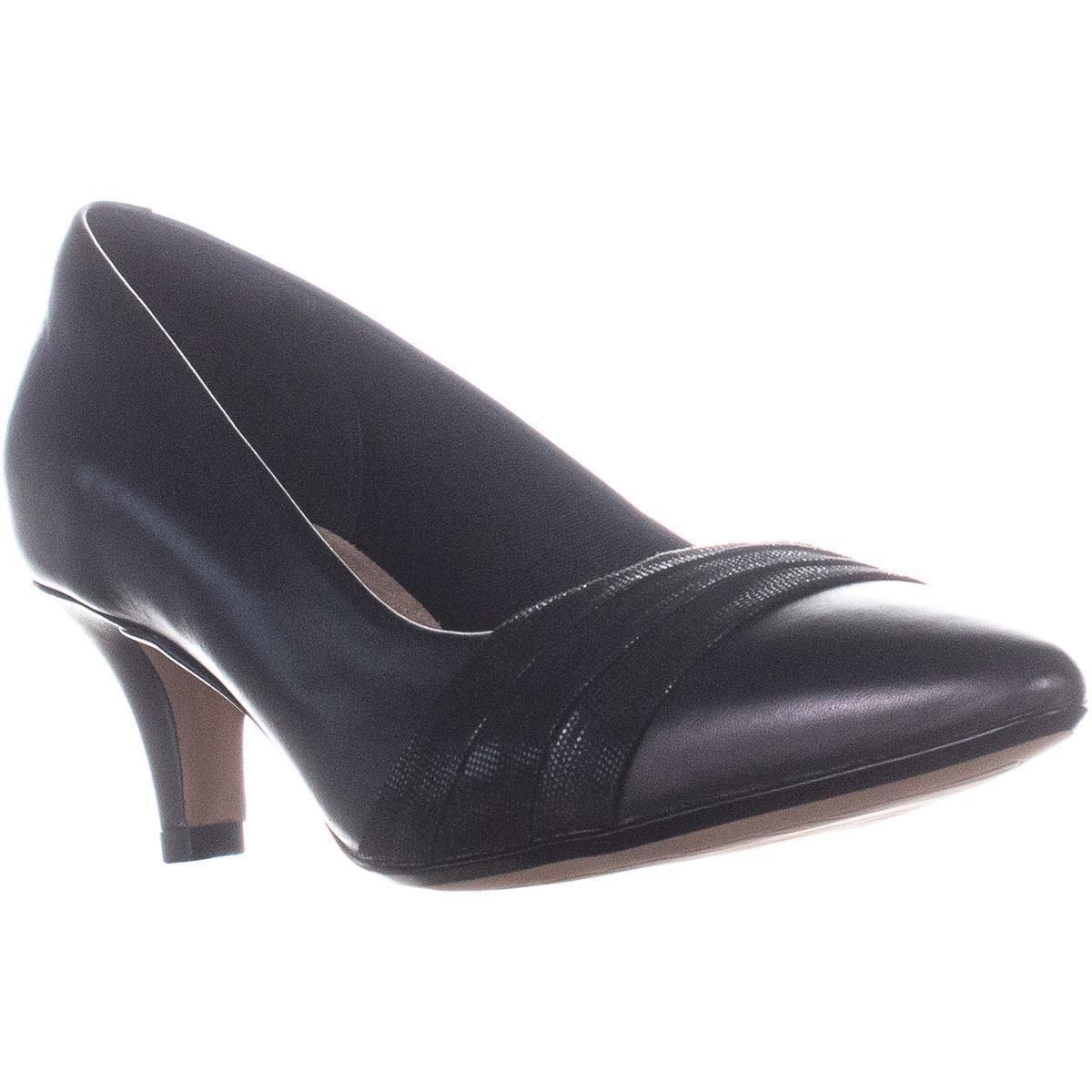 c264d9f9ecc Clarks Linvale Madie Kitten Heels in Black - Lyst