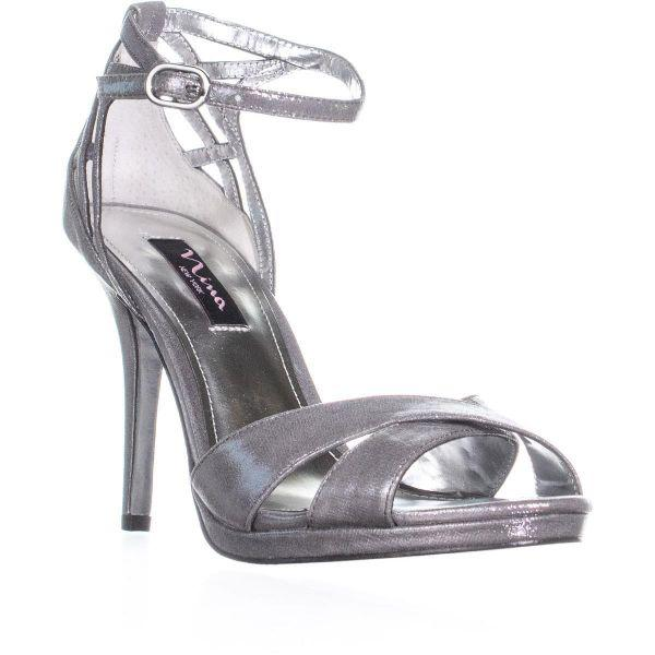 3c82bbe7d91 Nina Rebbie Ankle Strap Evening Sandals in Metallic - Save 24.0% - Lyst