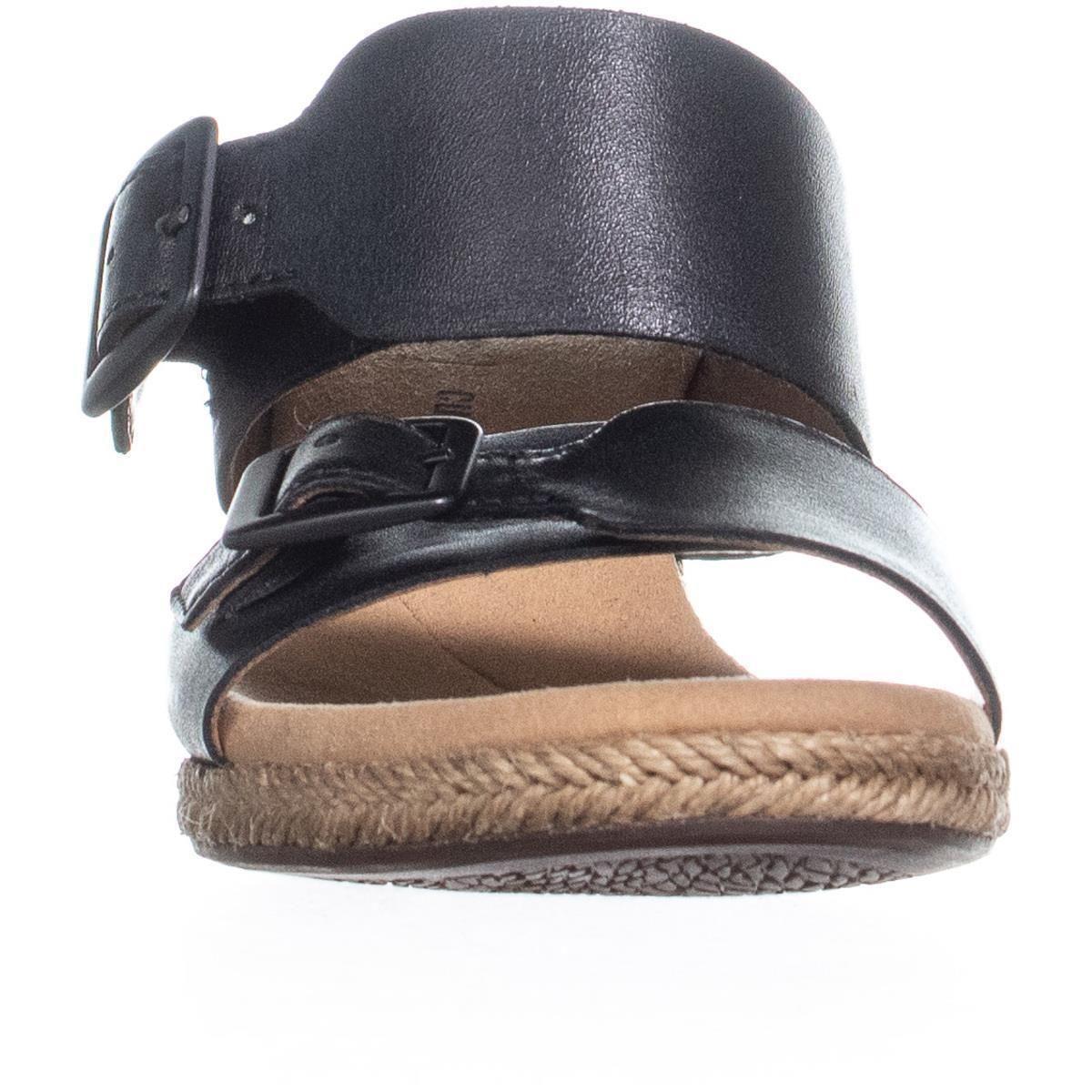 881c365be1ea Clarks - Black Lafley Devin Wedge Espadrilles Sandals - Lyst. View  fullscreen
