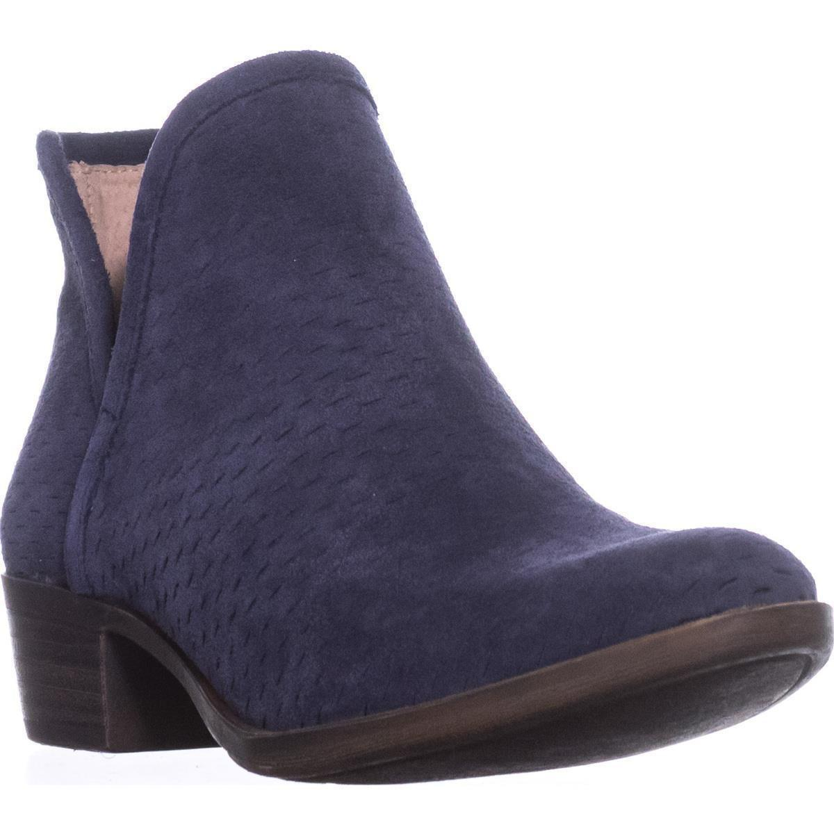 bb635f228 Lyst - Lucky Brand Baley Pull On Ankle Boots in Blue
