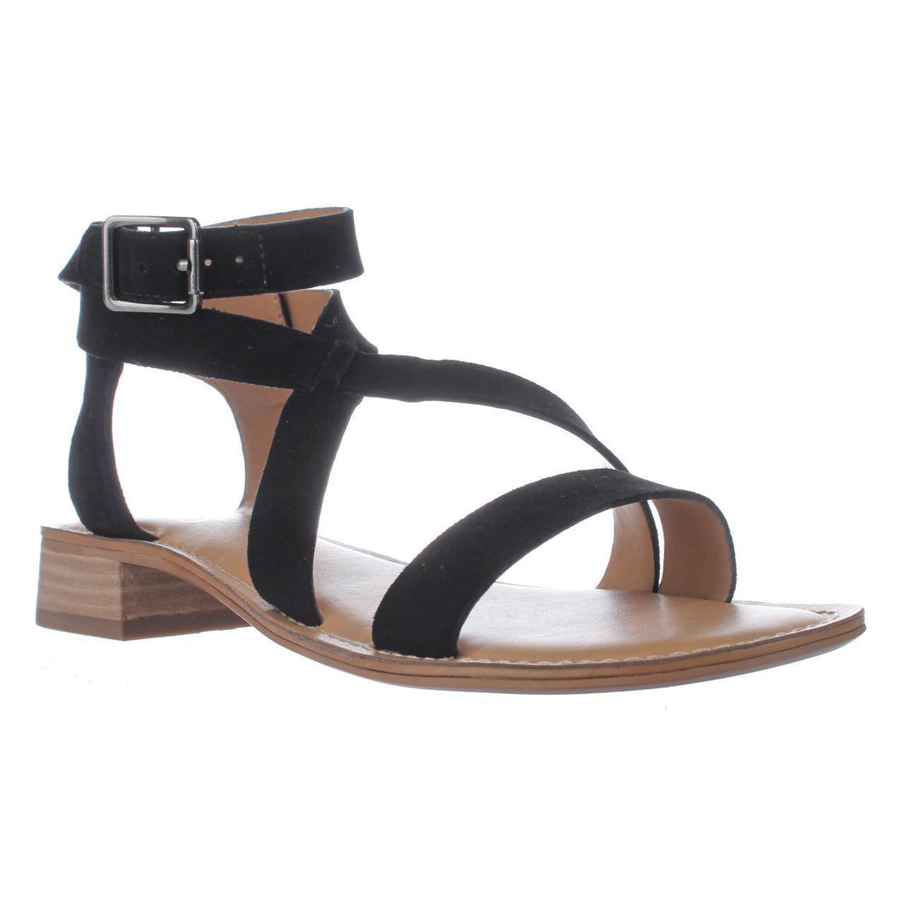 2161735c5a1b Franco Sarto Alora Flat Cross Strap Sandals in Black - Lyst