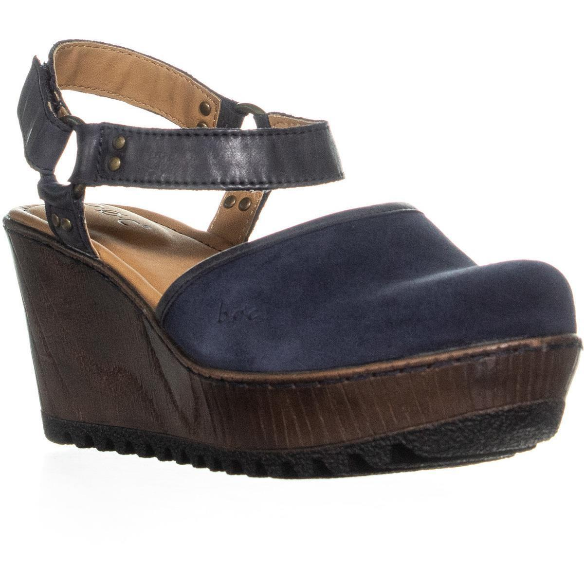 97962cee320e Lyst - Born B.o.c Rina Wedge Ankle Strap Sandals in Blue