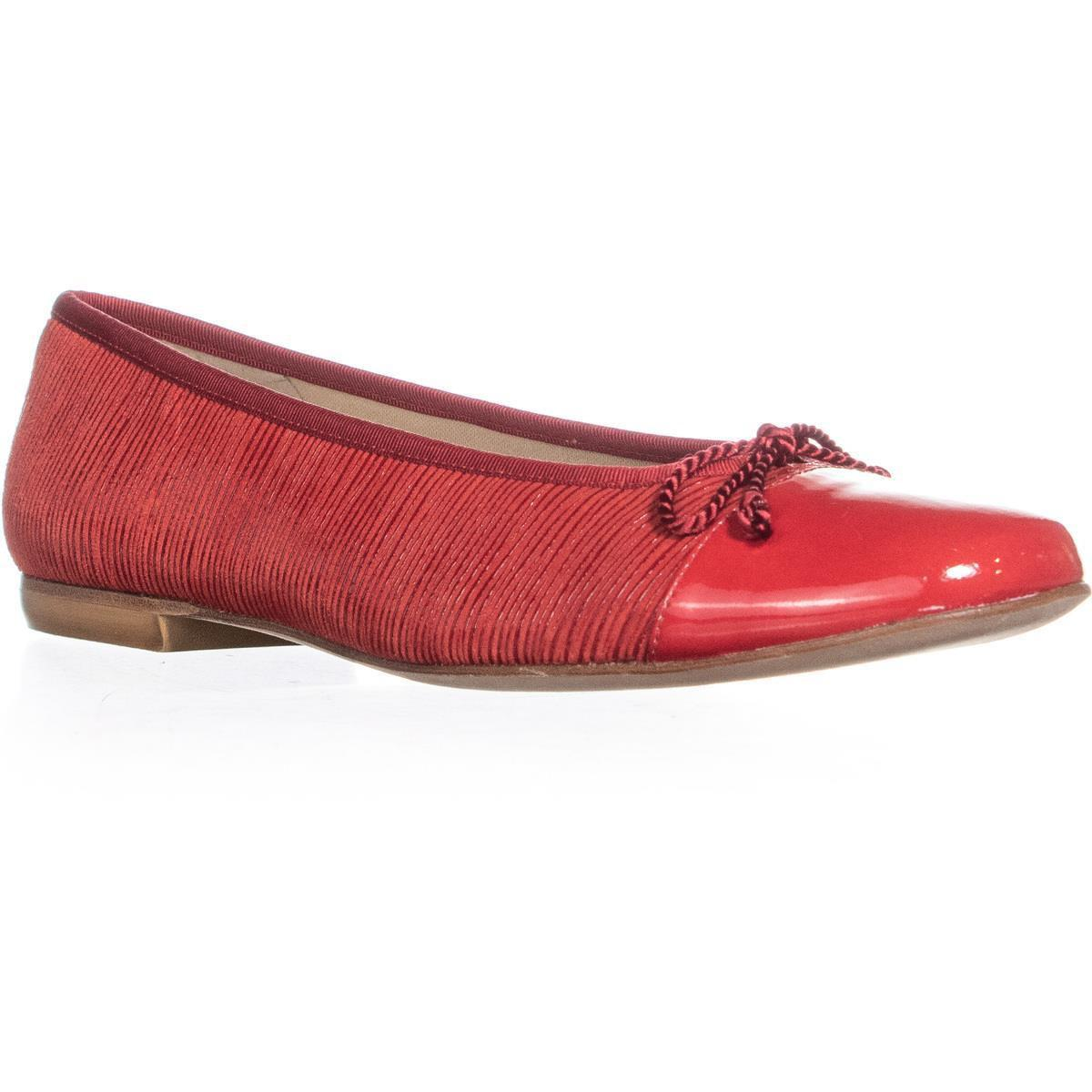 ae8c6e3057d0d Lyst - French Sole New York Quest Bow Tie Ballet Flats in Red