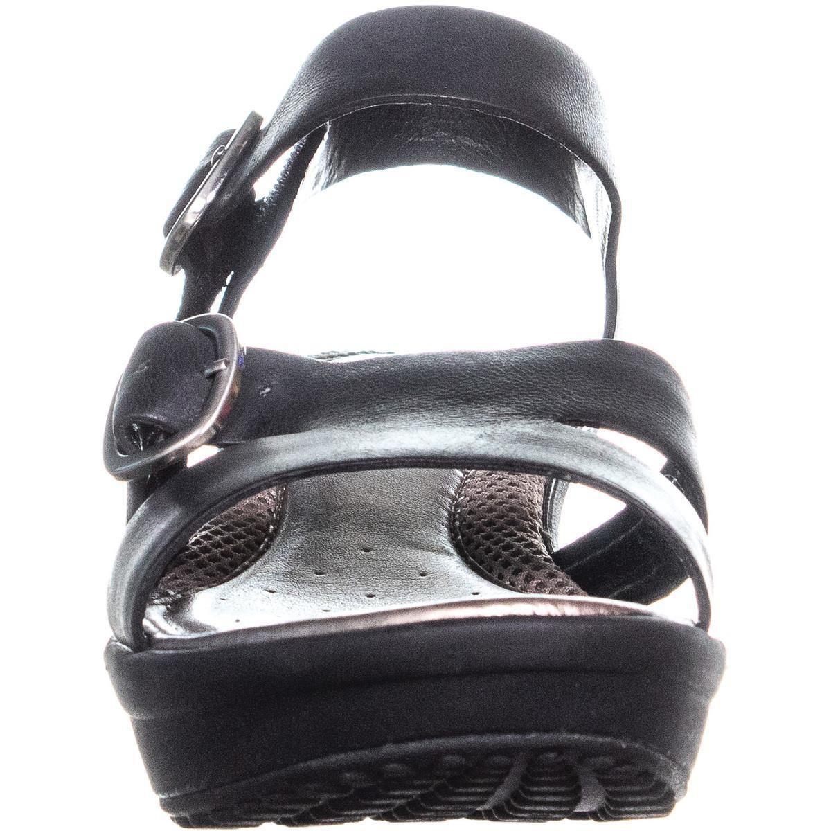 000e786ccbb Easy Spirit - Black Charisma Ankle Strap Comfort Wedge Sandals - Lyst. View  fullscreen