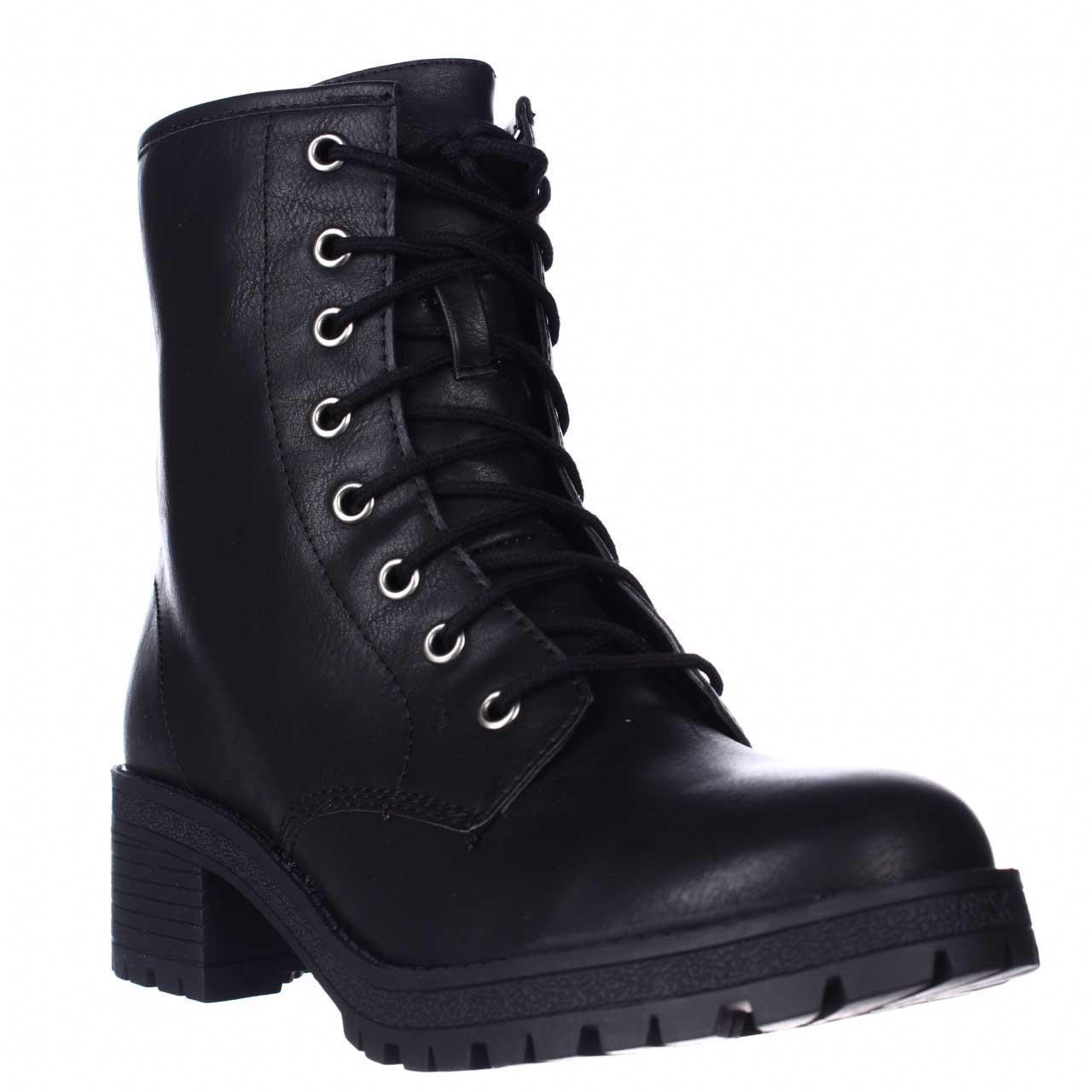 Madden Girl Eloisee Lace Up Combat Boots In Black Lyst