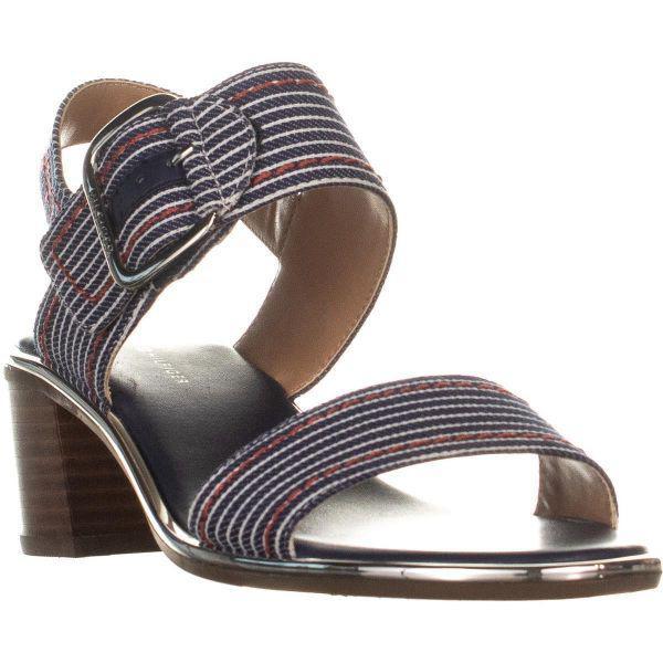 3812f50a2d75 Tommy Hilfiger Katz3 Heeled Sandals in Metallic - Lyst