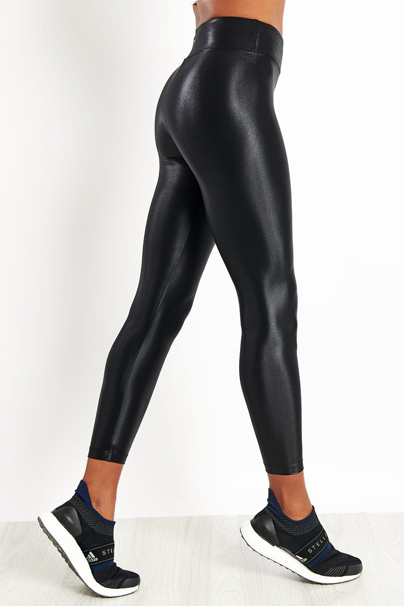 Koral Synthetic Lustrous High Waisted Legging Black