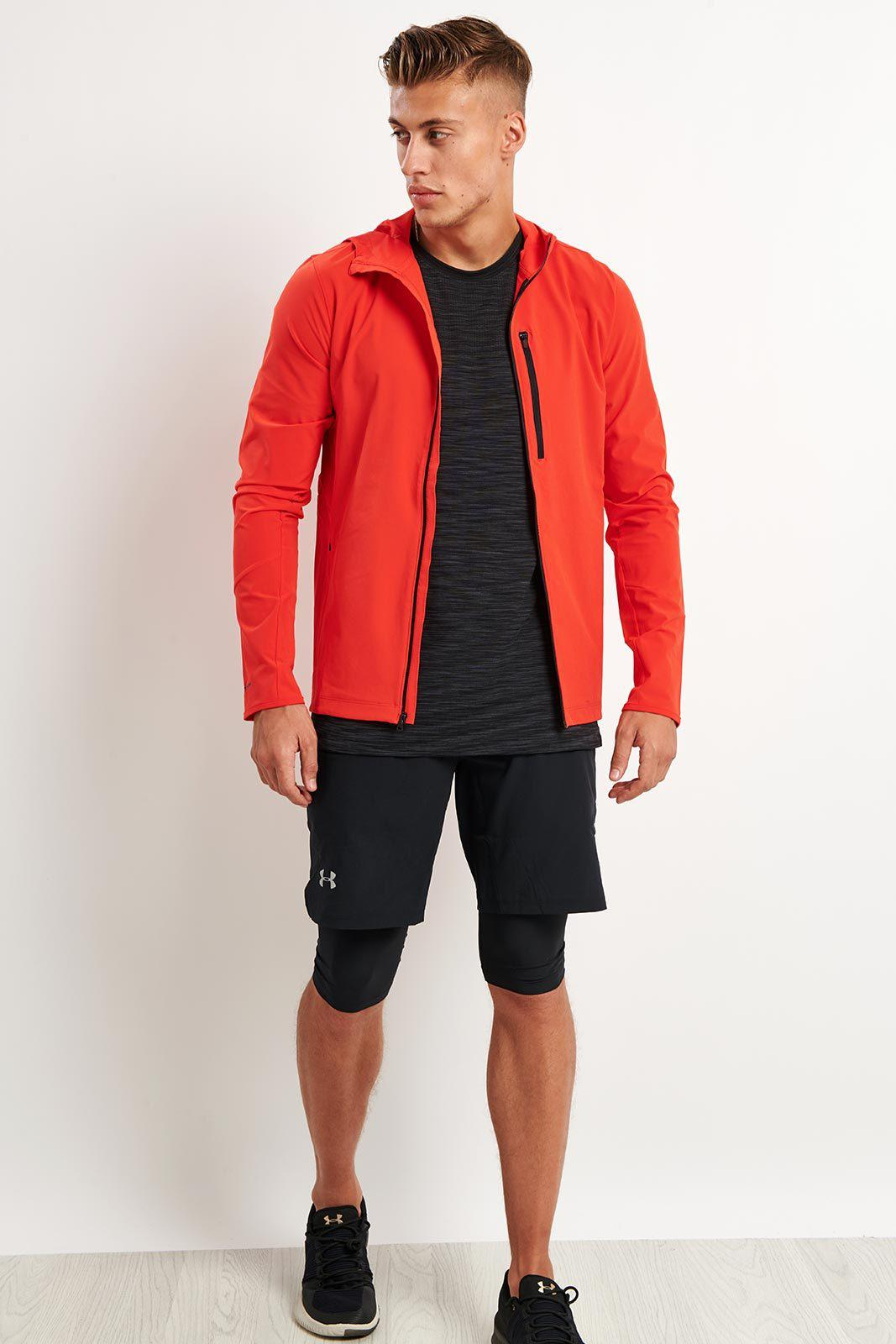 Lyst Under Armour Outrun The Storm Jacket In Red For Men