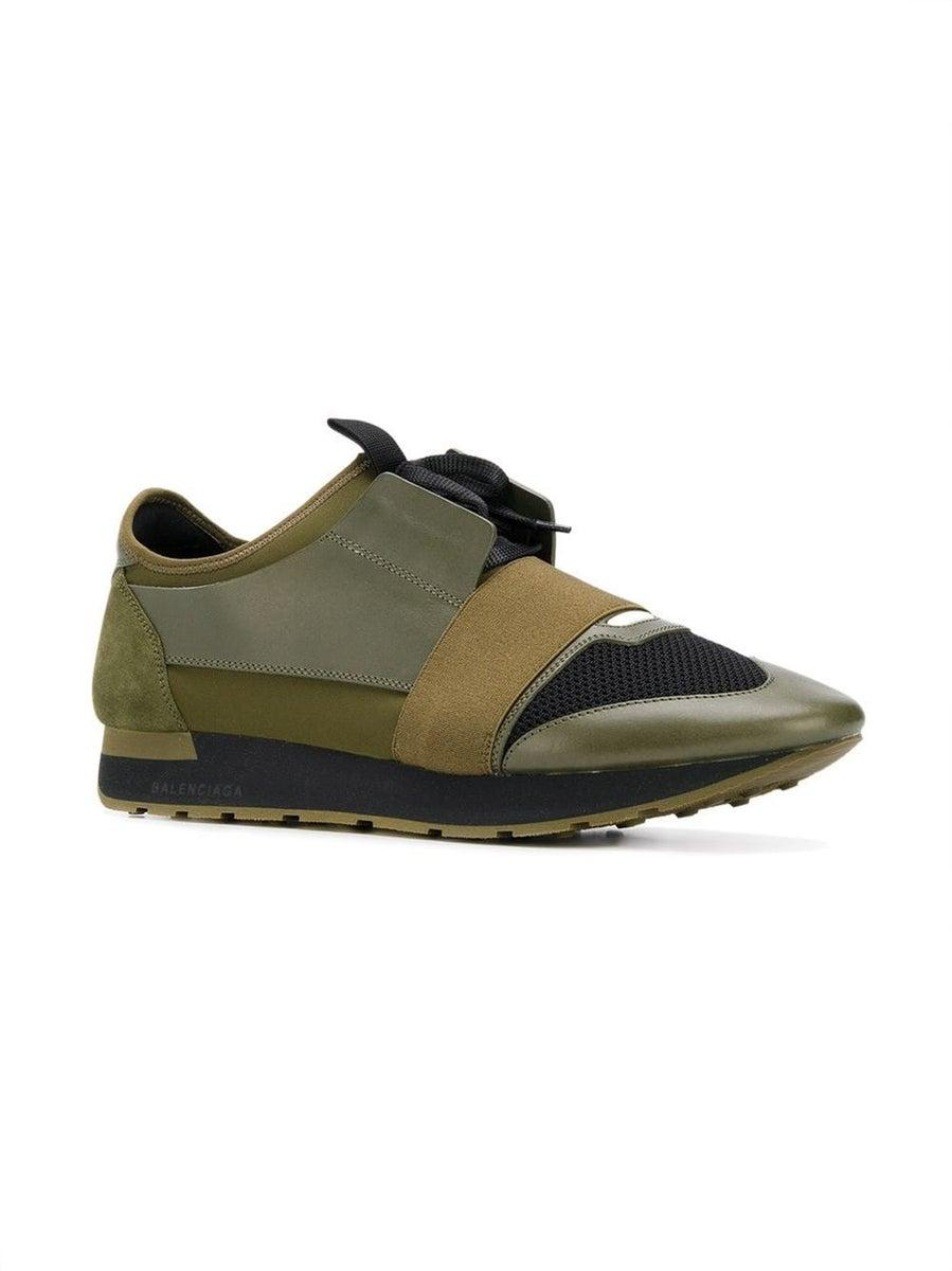 Olive Green Road Runner Sneakers Green