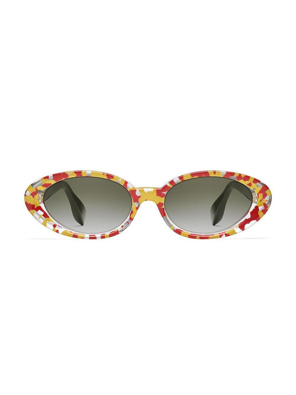 1f3ba7b7f7 Rosie Assoulin. Women s Brown X Morgenthal Frederics Jawbreaker Sunglasses