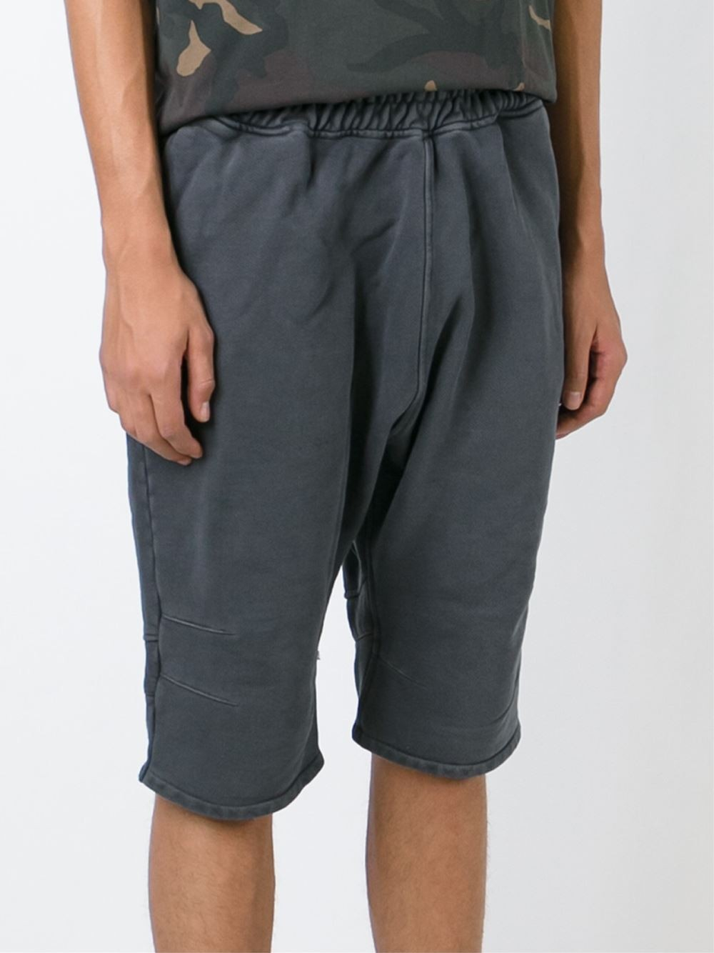 yeezy adidas originals by kanye west track shorts in black