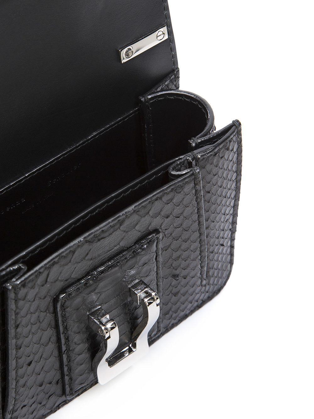 Proenza Schouler Leather Hava Chain Python Crossbody Bag