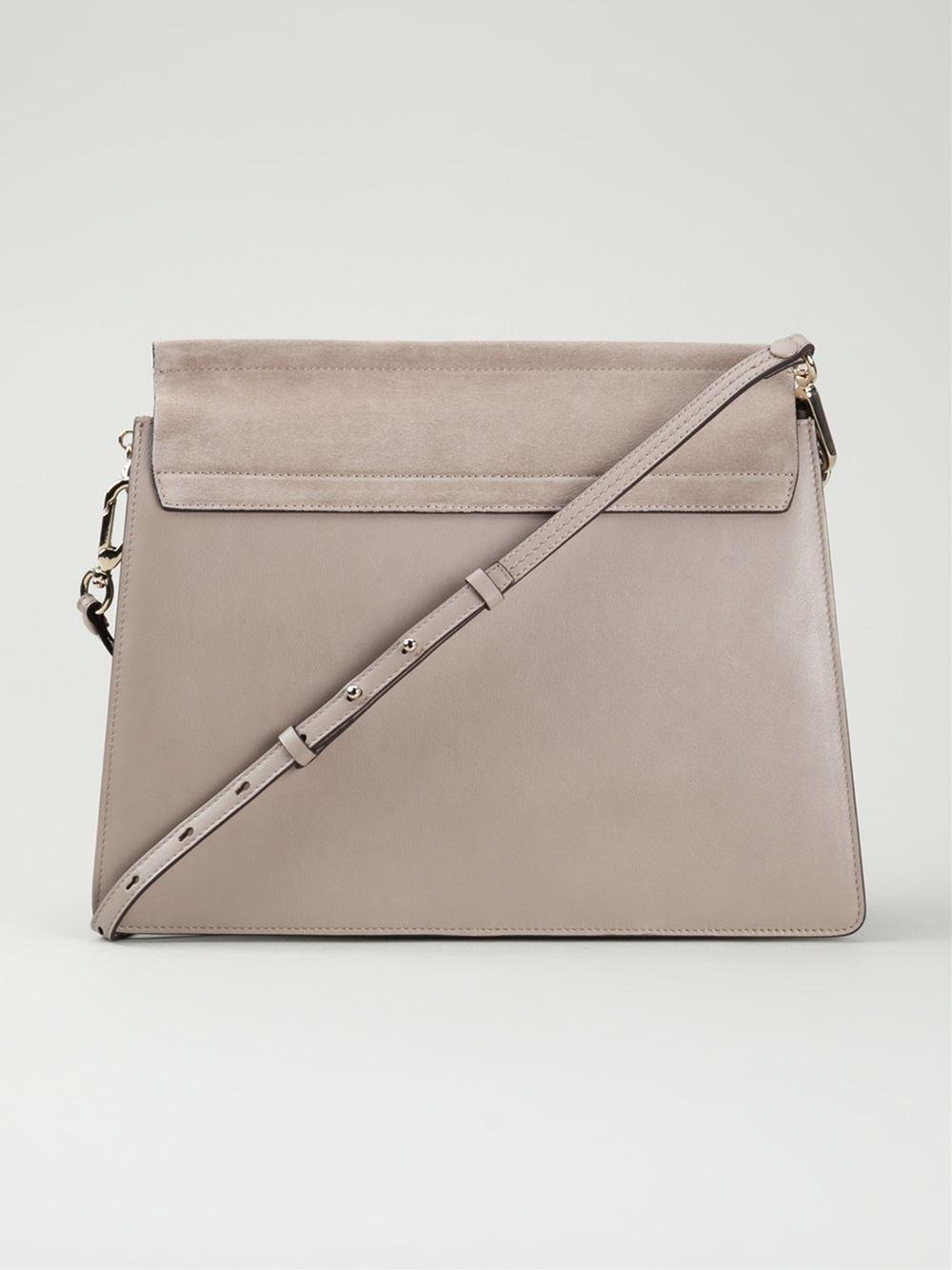 Chloé Suede Medium 'faye' Bag In Motty Grey