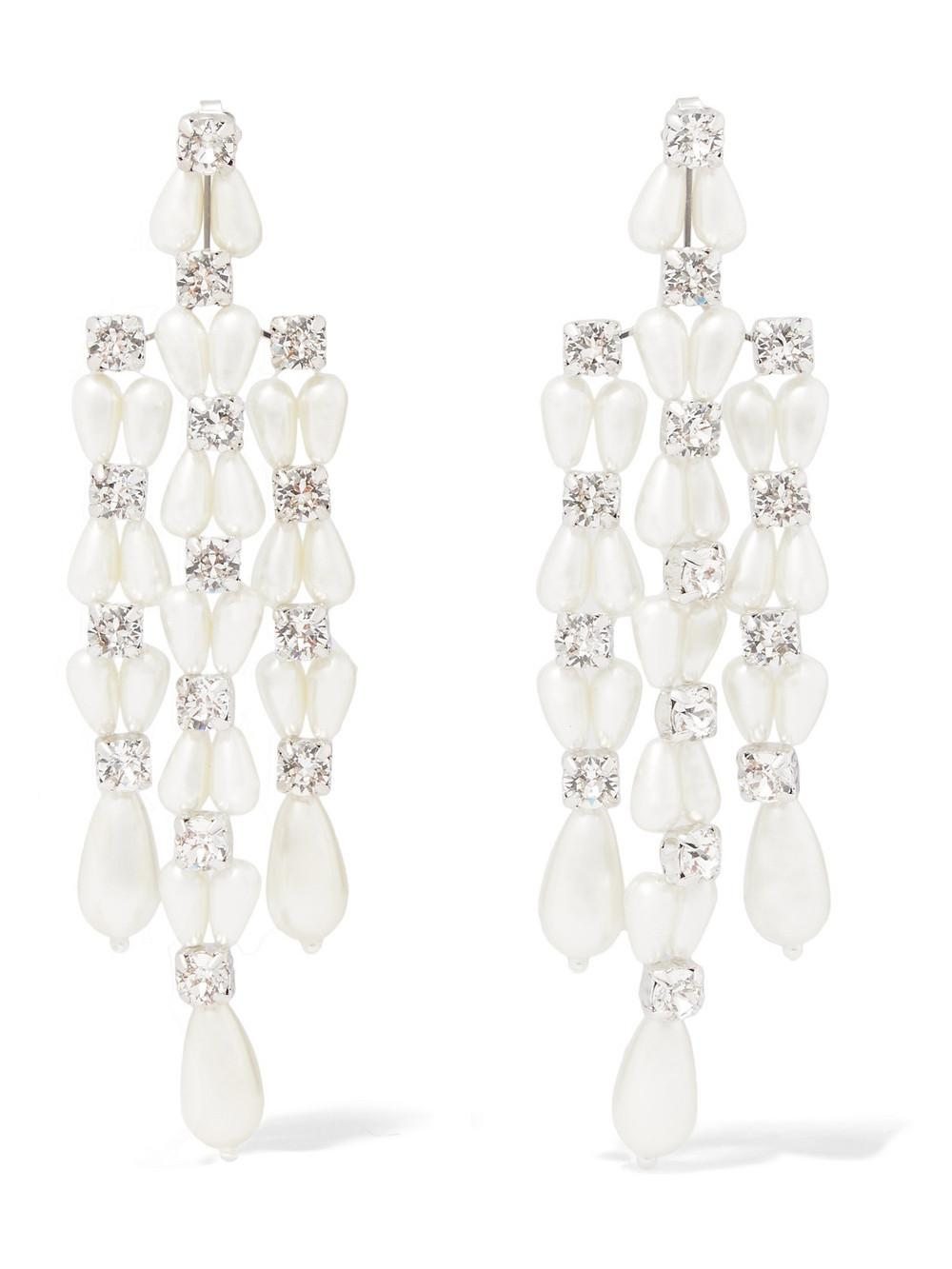 Simone Rocha Crystal and faux-pearl earrings FGkXnJzFw