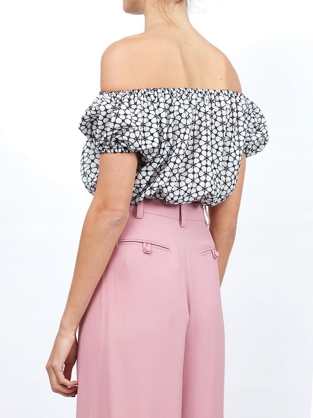 Cheap Sale 2018 Free Shipping Low Cost Lisa Marie Fernandez floral print off the shoulder crop top Clearance Best Store To Get OnQBkcp6