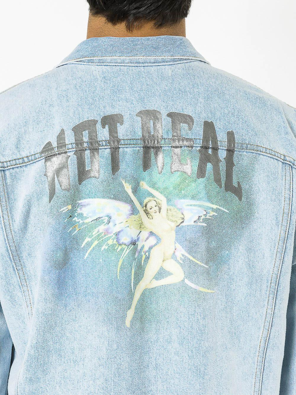 b368c416441b Lyst - Off-White c o Virgil Abloh  not Real Angel  Oversize Denim ...