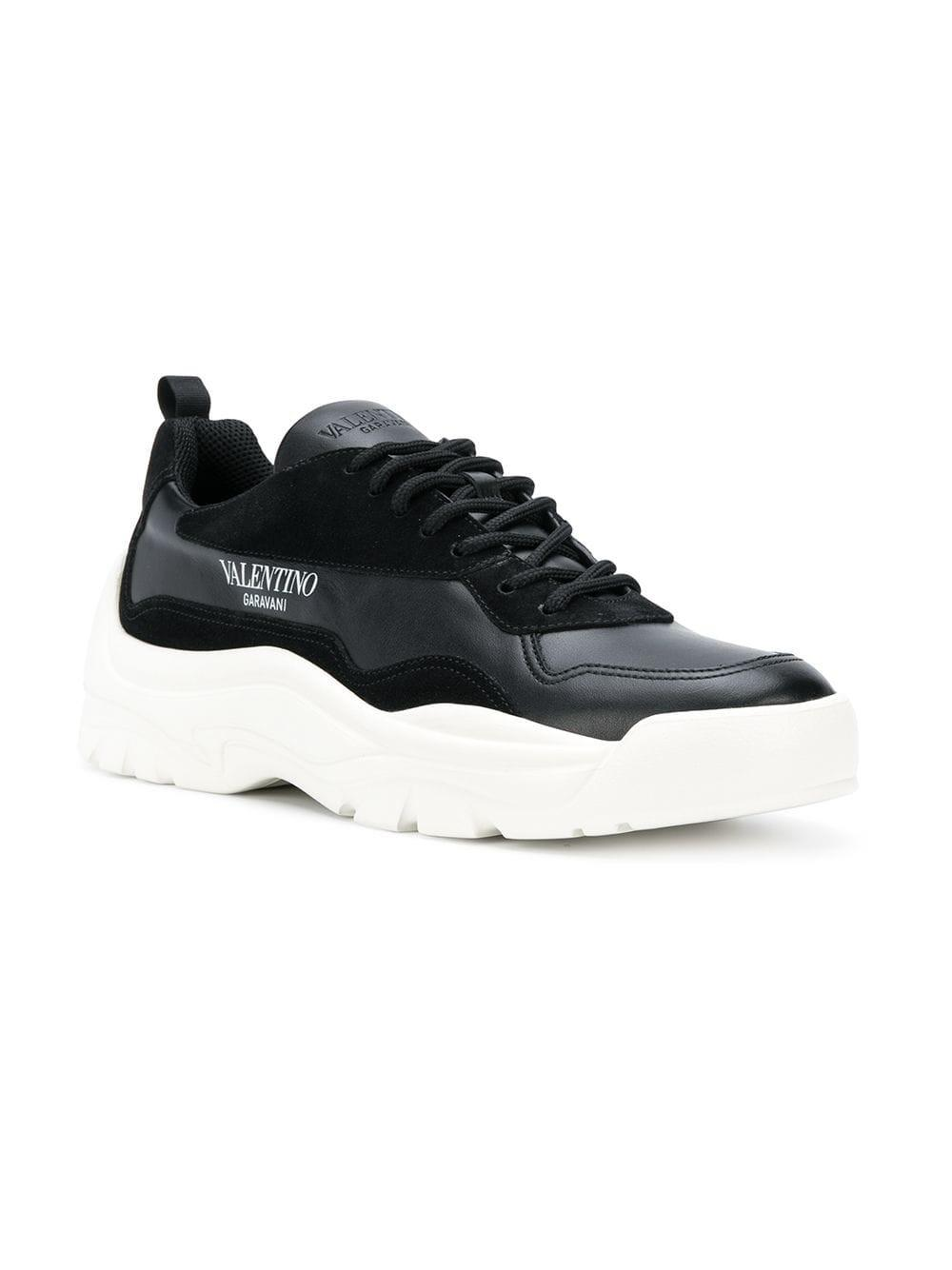 abb16be95a0f Valentino Low Top Sneakers in Black for Men - Save 40% - Lyst