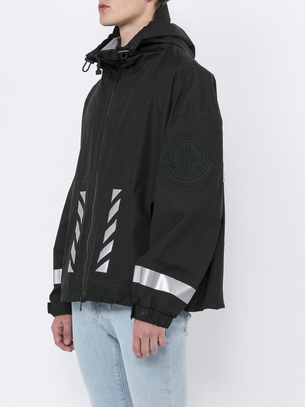 2e16c5055 Moncler Black X Off-white Seine Windbreaker for men
