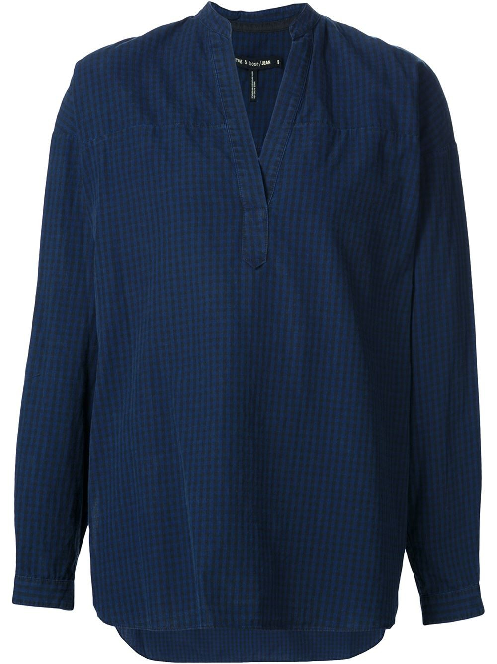 Lyst rag bone 39 barcelona 39 blouse in blue for Blue barcelona