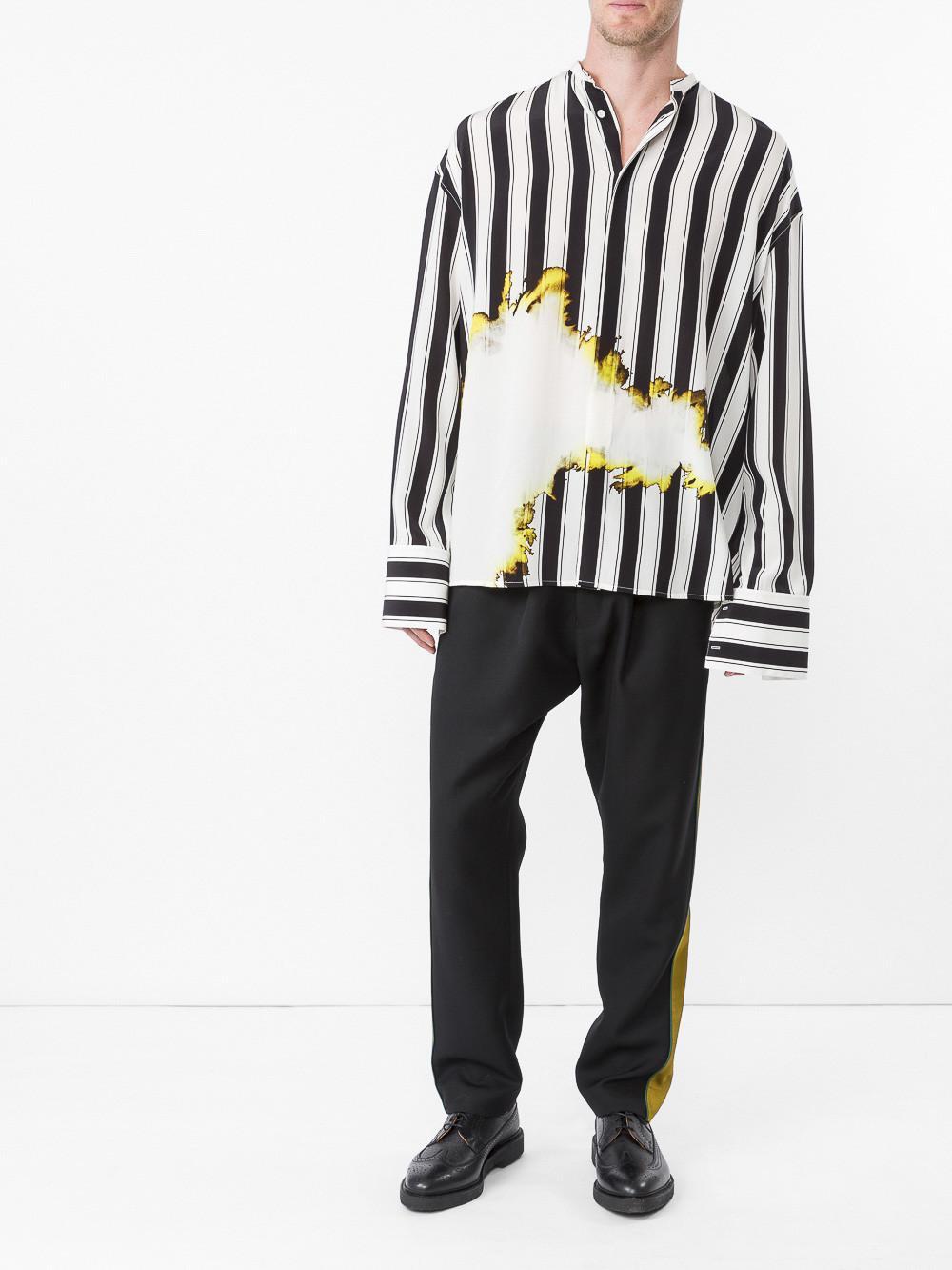 c1b267a05f Haider Ackermann Bleach And Stripe Print Shirt for Men - Lyst