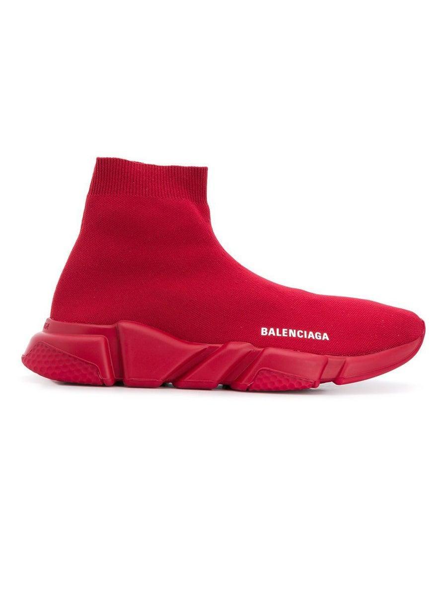 Burgundy Speed Sock Sneakers