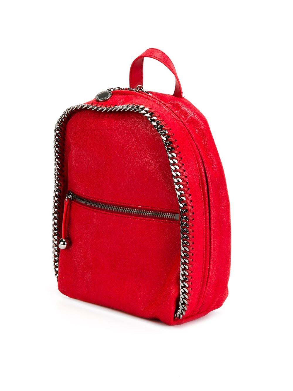 stella mccartney 39 falabella 39 backpack in red lyst. Black Bedroom Furniture Sets. Home Design Ideas