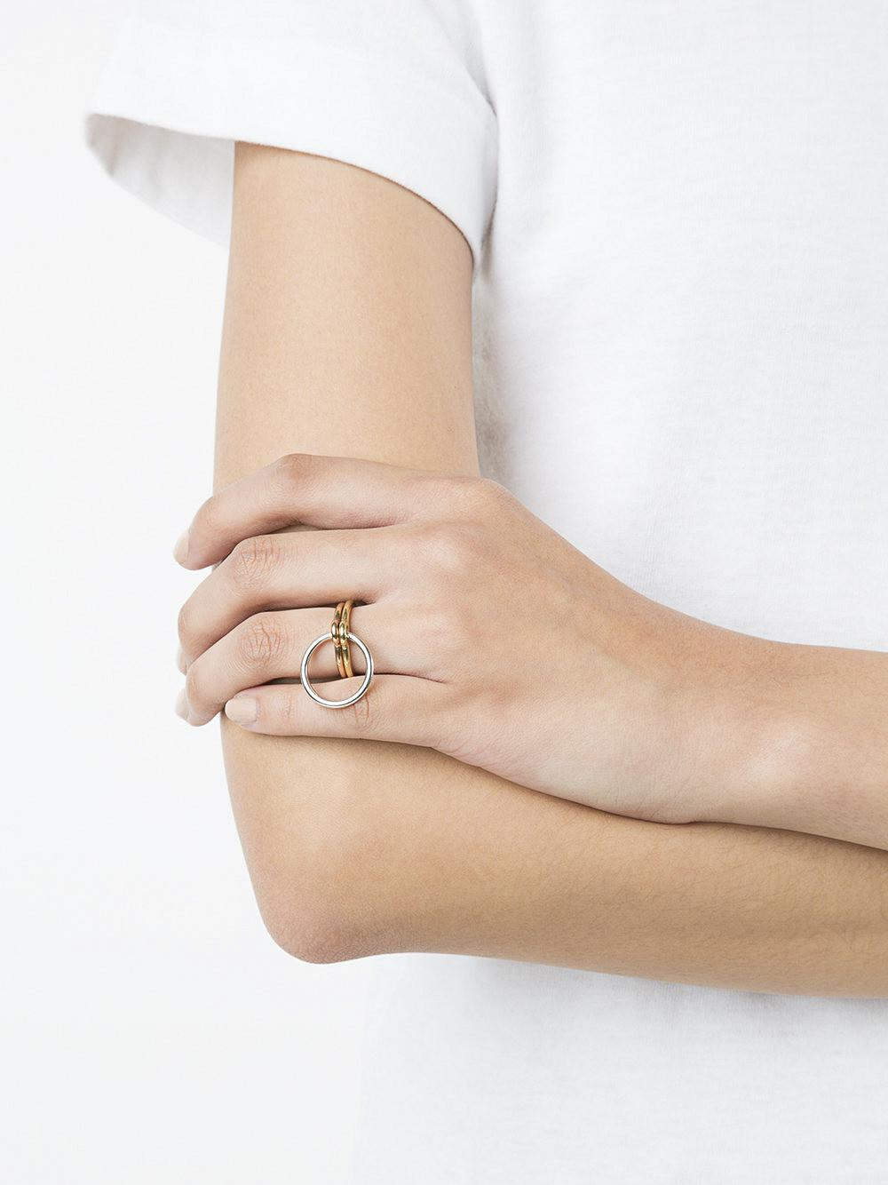 Charlotte Chesnais Three Lovers Linked Ring in Metallic