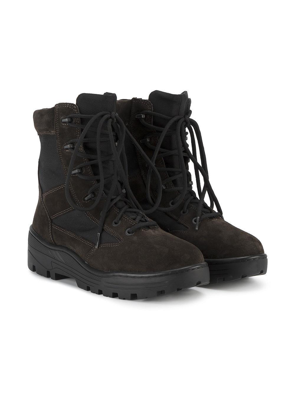 7d2e6aec62a Yeezy - Black Lace Up Combat Boots for Men - Lyst. View fullscreen