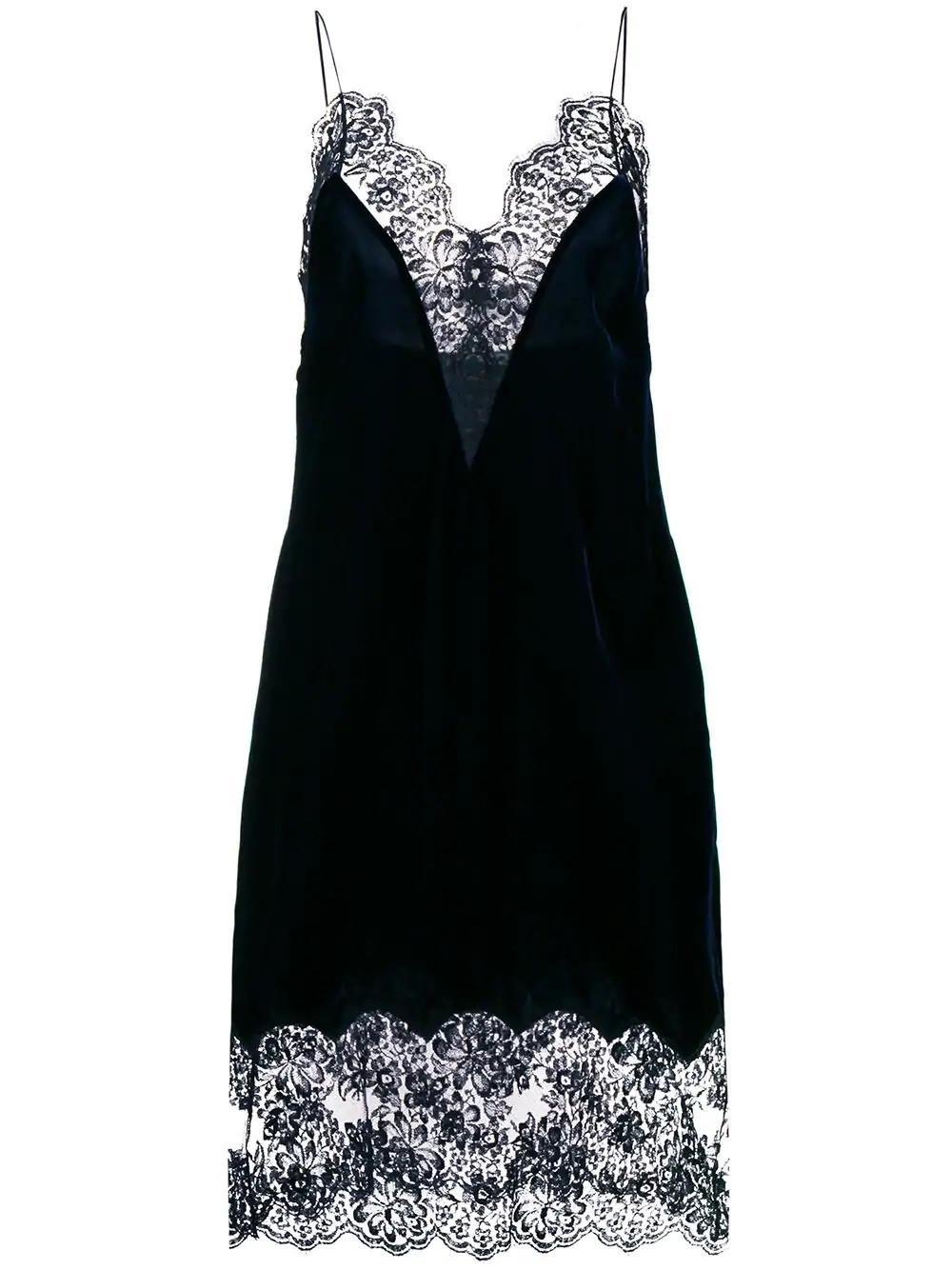 0b67a0dead70c Stella McCartney Lace Slip Dress in Black - Save 49% - Lyst