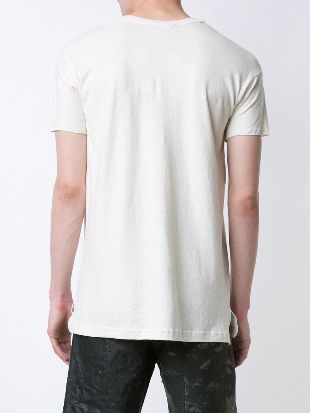 longjourney nylon pocket t shirt in white for men lyst