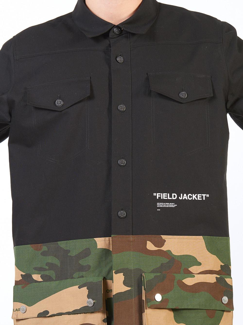 """Off-White c/o Virgil Abloh Cotton """"field Jacket"""" Camo Panelled Overshirt for Men"""