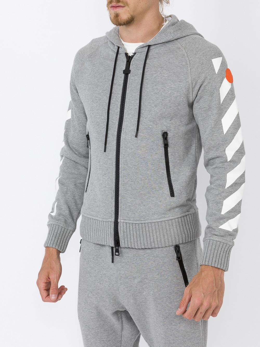 moncler off white hoodie