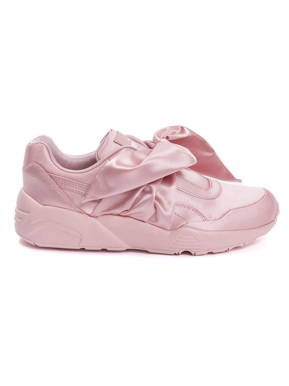 new product cf317 f5051 PUMA Pink Fenty X Rihanna Satin Bow Sneakers