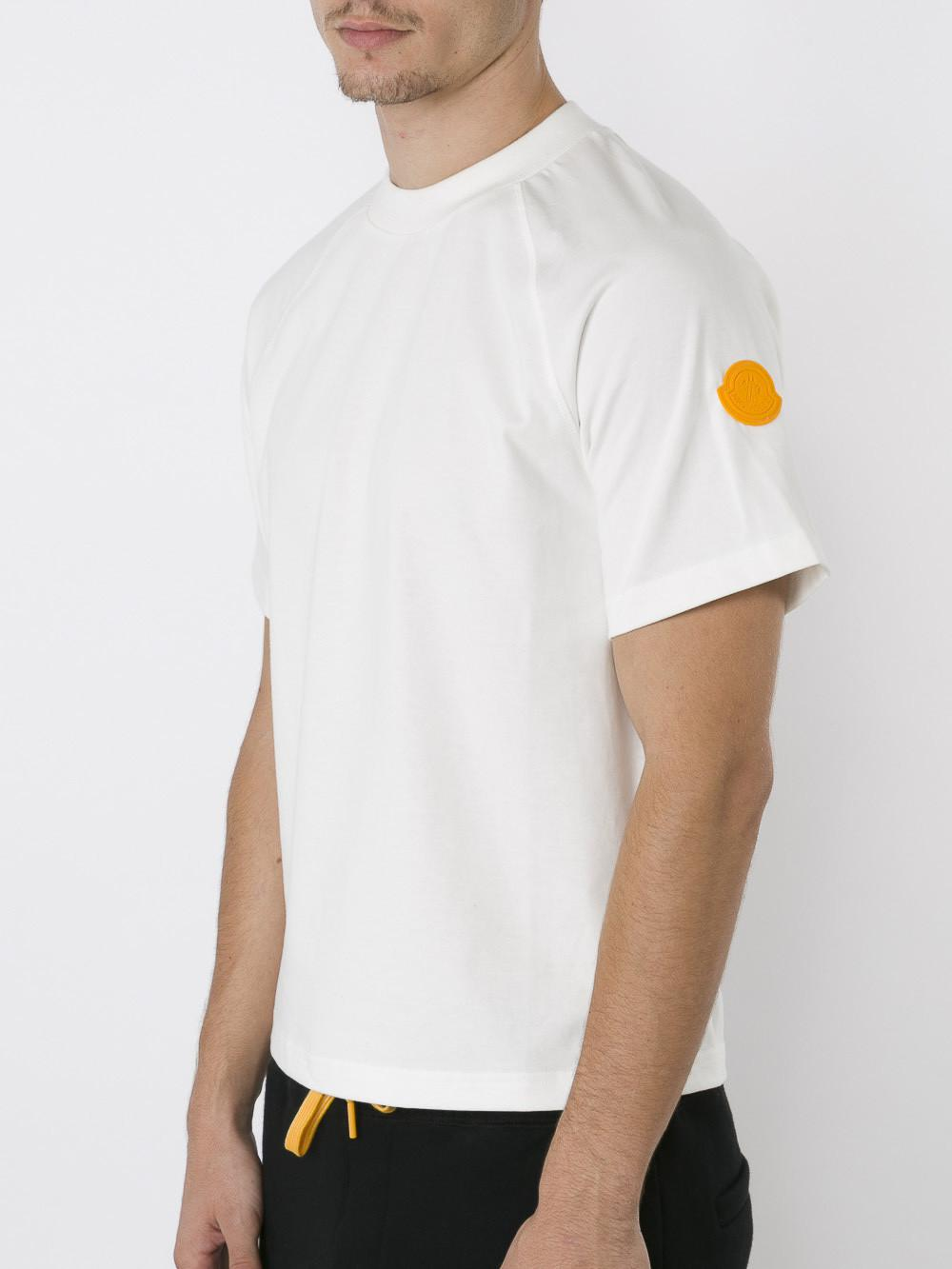 moncler off white t shirt