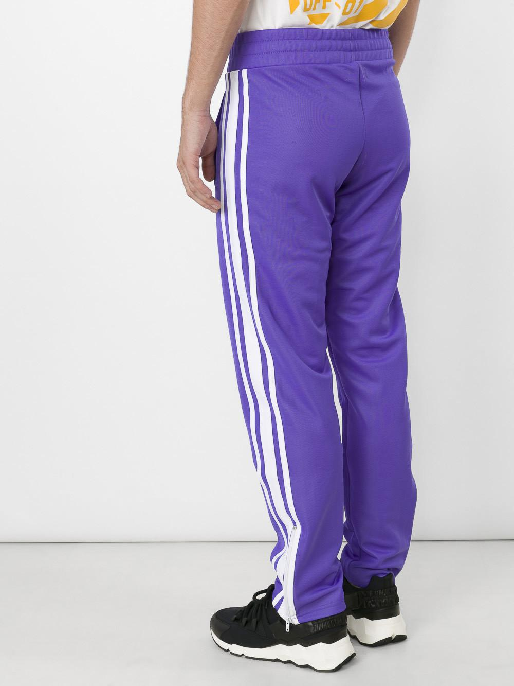 Palm Angels Synthetic Striped Track Pants In Blue For Men