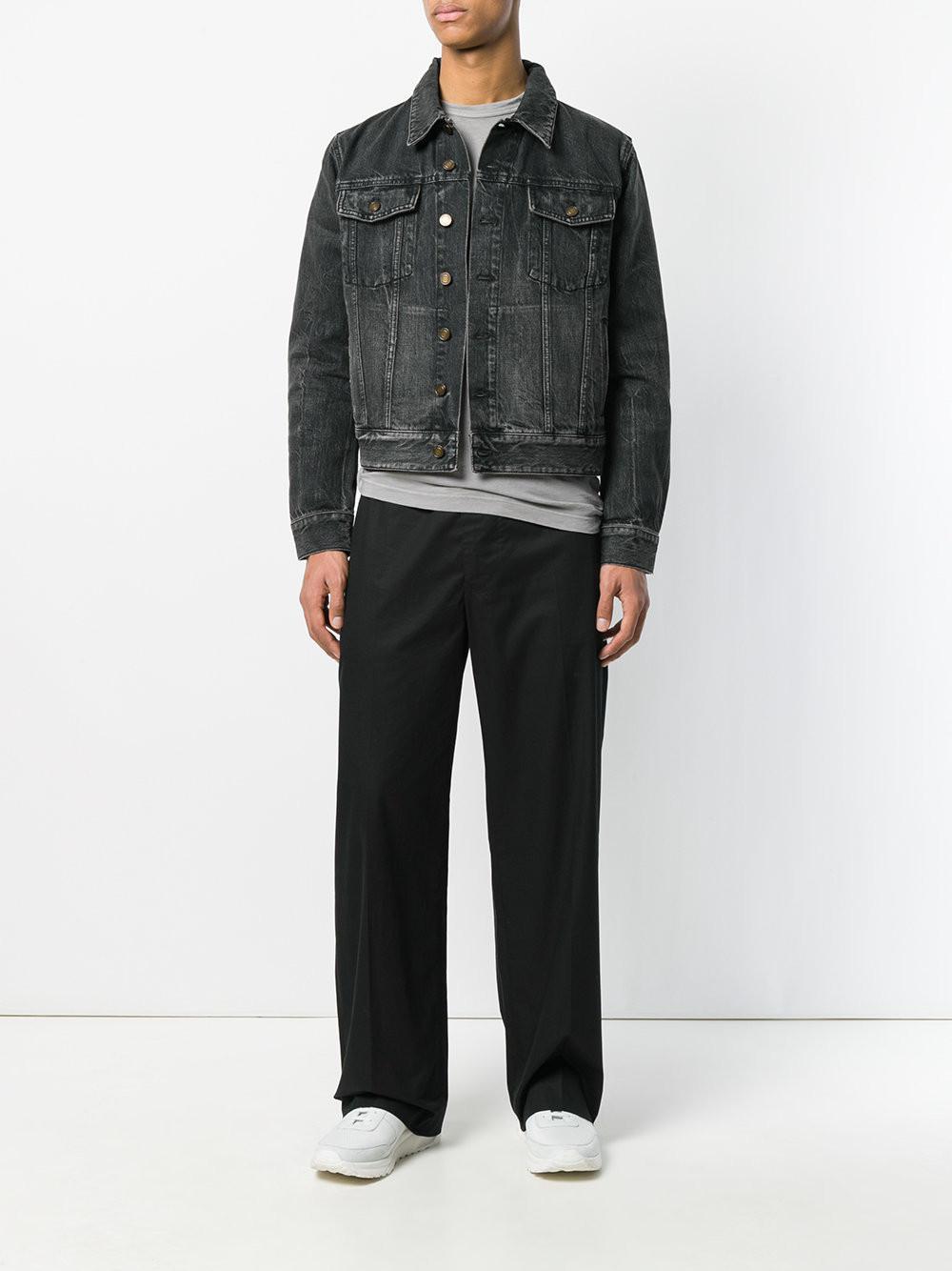 aac965921d65 Lyst - Saint Laurent Denim Sunset Patch Jacket for Men - Save 50%