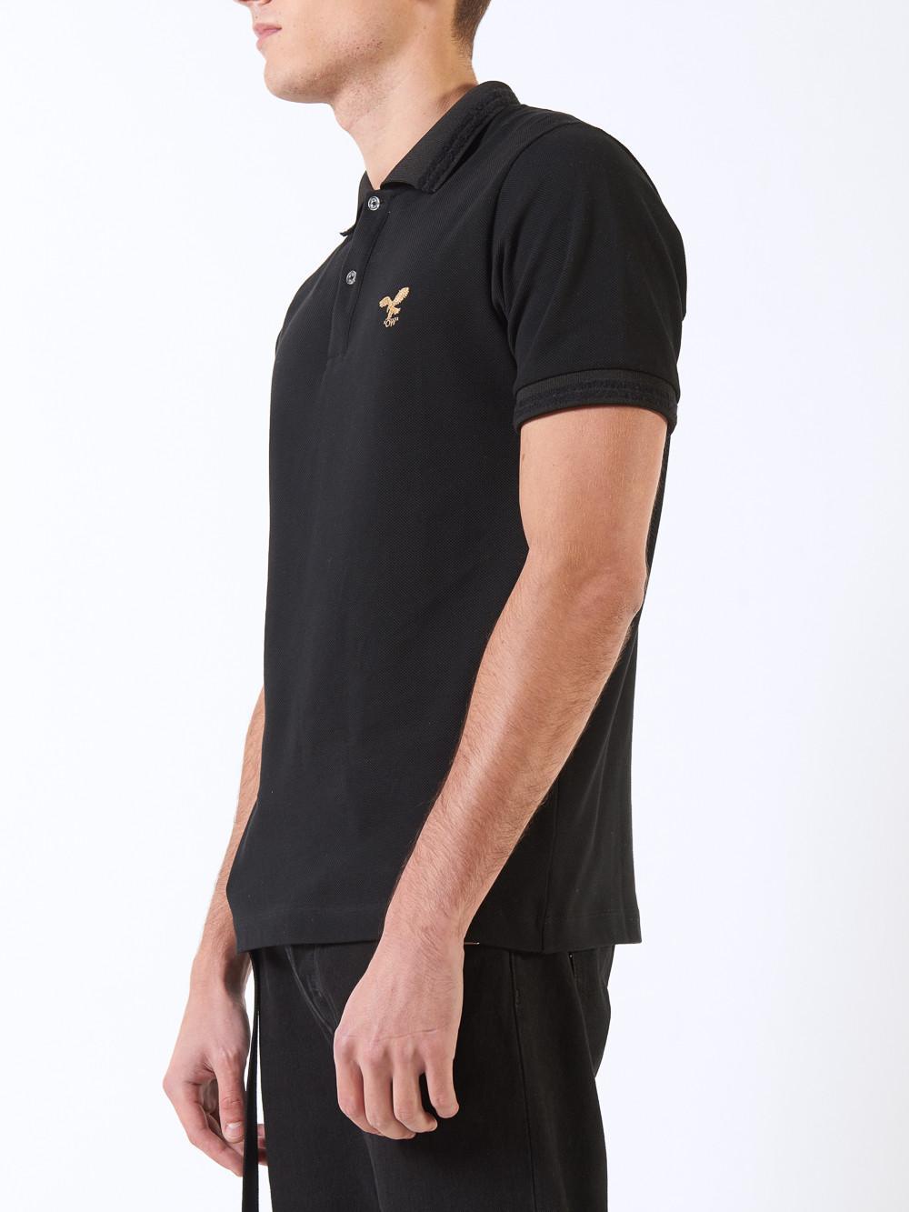Lyst Off White C O Virgil Abloh Bird Logo Polo Shirt In Black For Men