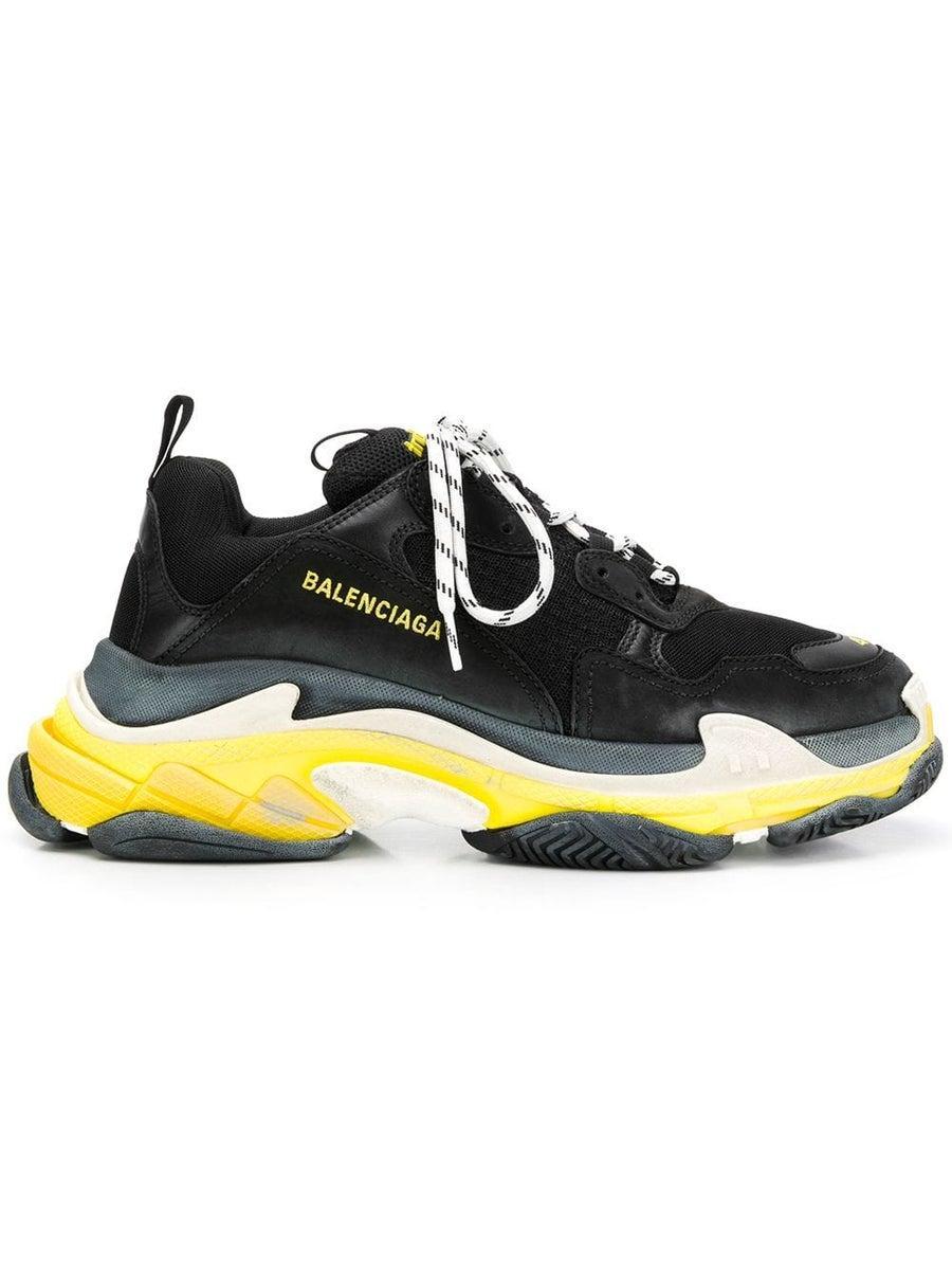 Balenciaga Triple S Black And Yellow