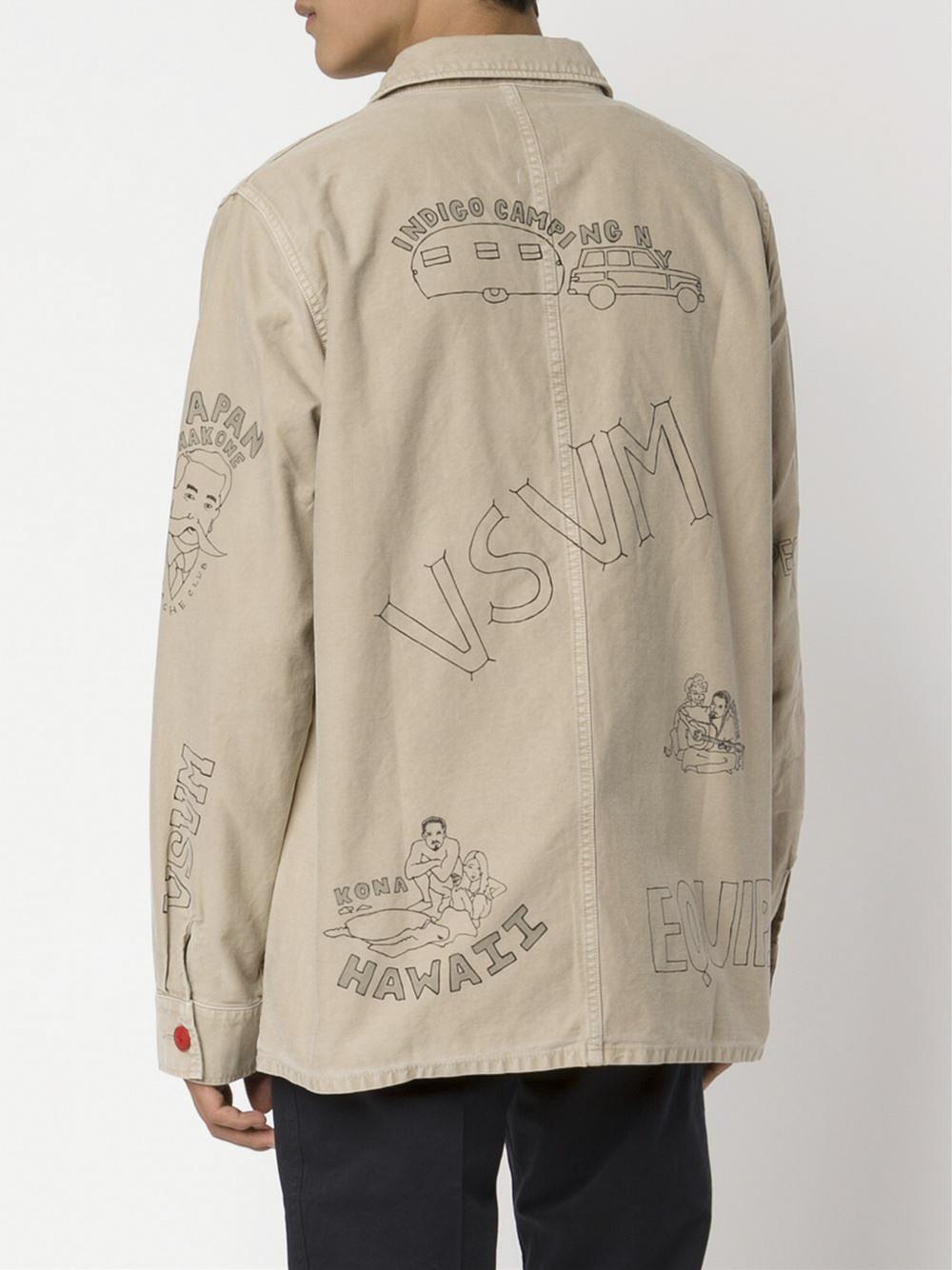 Visvim Cotton Doodle Shirt Jacket in Natural for Men