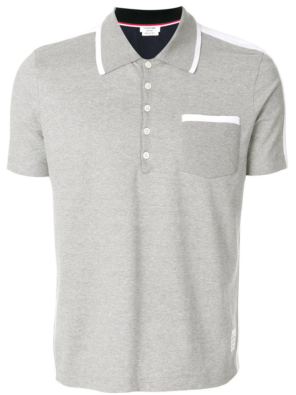 40a611c7 Lyst - Thom Browne Bicolor Half-and-half Jersey Polo for Men