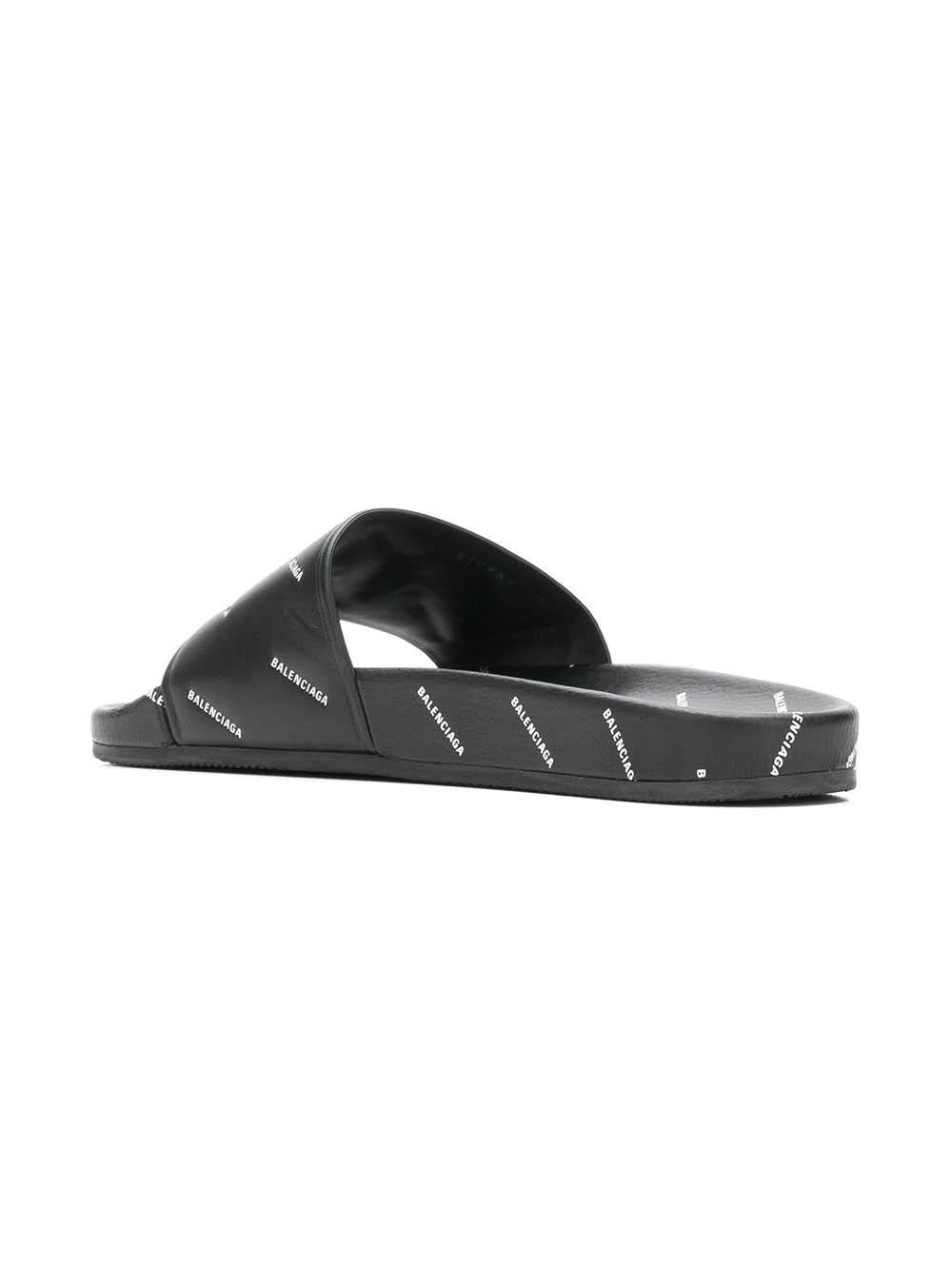 2d1c0b23b834 Balenciaga - Multicolor Logo Embossed Slides for Men - Lyst. View fullscreen