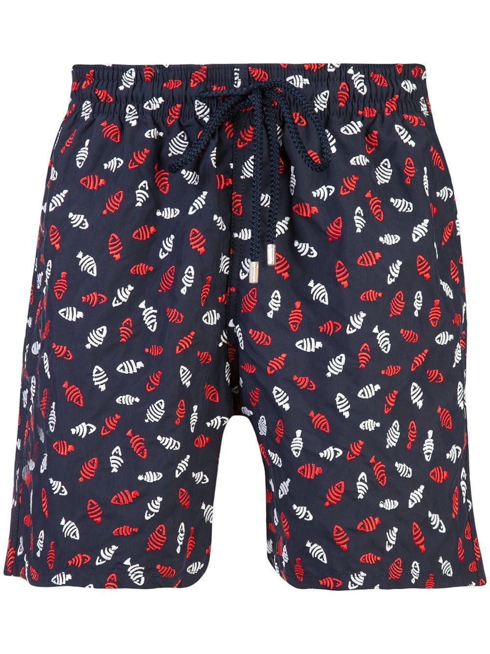 d5e61a2aee Vilebrequin Fish Print Swim Shorts in Blue for Men - Save ...