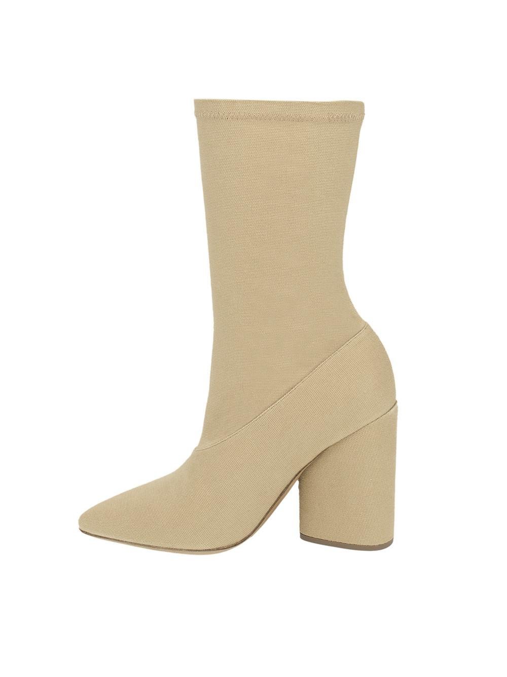 Yeezy Dollar Canvas Ankle Boot in Natural