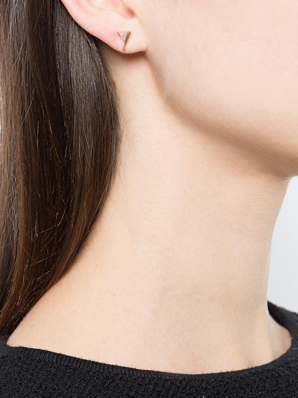 Eva Fehren Asymmetric Triangle Earrings