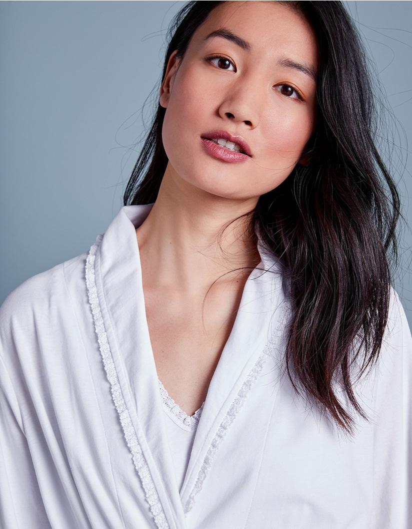 d1012cdcf3 The White Company Lace Trim Robe in White - Lyst
